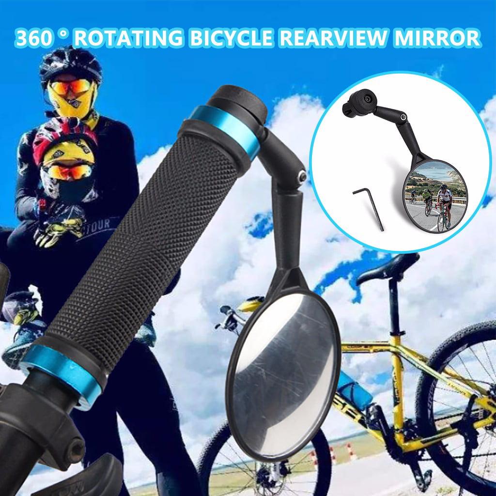 2× Aluminum Bike Mirror MTB Bicycle Adjustable Rearview Handlebar End Rear Back