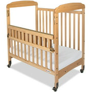 Foundations Serenity SafeReach Compact Clearview Fixed-Side Crib, Natural