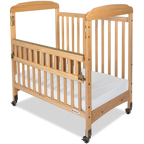 Foundations Serenity SafeReach Portable Crib with Mattress Natural