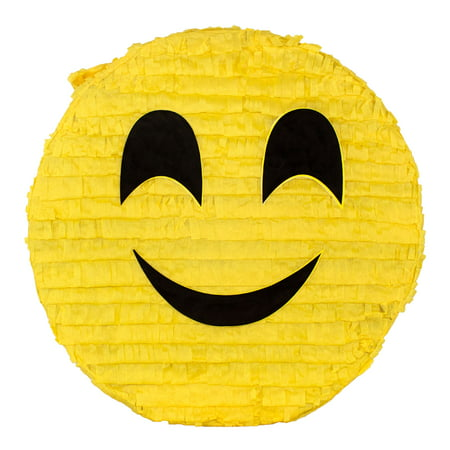 (2 Pack) Smile Emoji Party Pinata, Traditionally Handcrafted