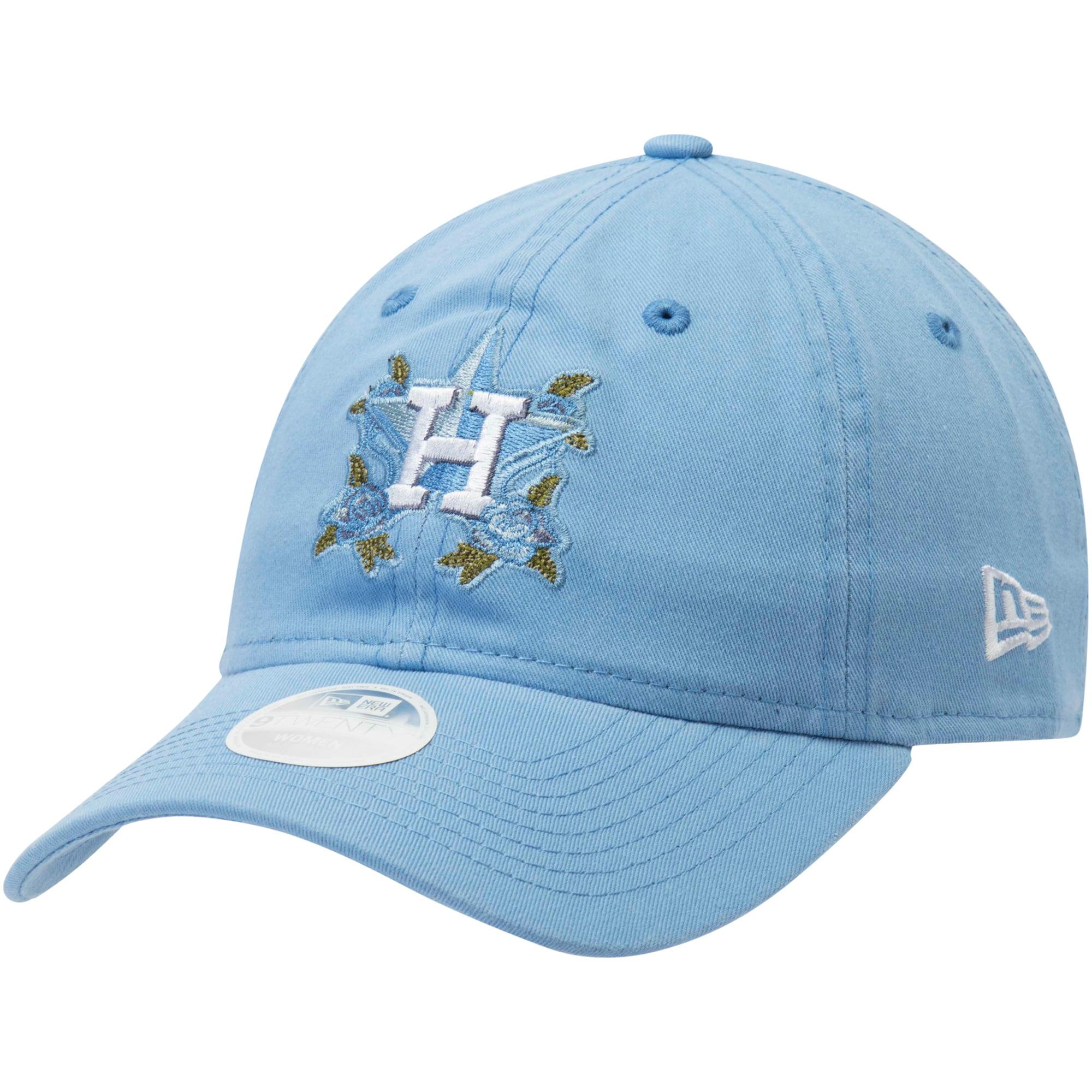 Houston Astros New Era Women's Bloom 9TWENTY Adjustable Hat - Blue - OSFA