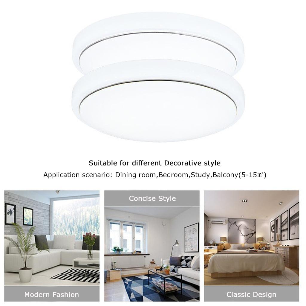 Floureon 18w Round Led Ceiling Light 7000k Bright 1600 Lumens Flush Mount Fixture For Indoor Lighting Energy Saving Suitable Bedroom Living