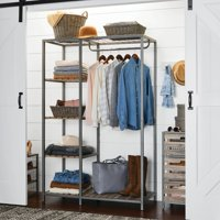 Better Homes & Gardens Farmhouse Wood and Metal Rack