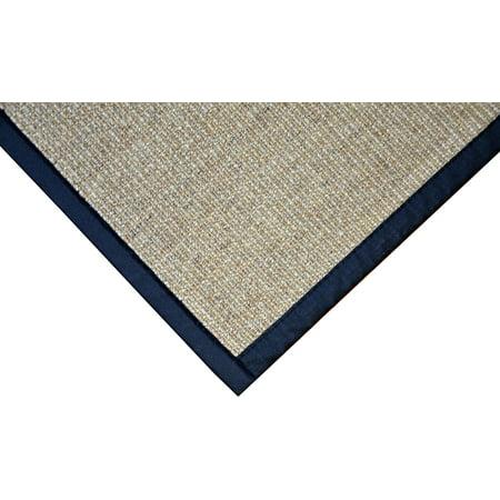 Dean All Natural Fiber Desert/Black Sisal Non-Skid Area Rug: 3