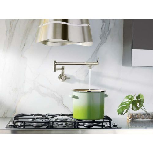 Moen S6SRS Pot Filler Wall Mounted Kitchen Faucet, Available in ...
