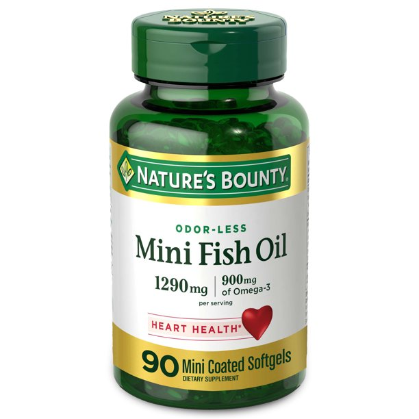 Nature's Bounty Double Strength Odor-Less Fish Oil Dietary Supplement Coated, 2400mg, 90ct
