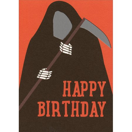 Recycled Paper Greetings Happy Birthday Grim Reaper Halloween Birthday - Happy Halloween Card