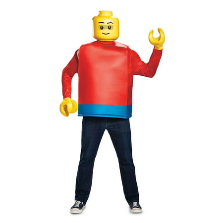Lego Iconic Lego Guy Classic Adult Halloween Costume - Nerd Costume Guy