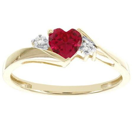 Womens Star Ruby Ring