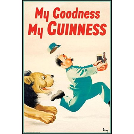 Guinness Beer My Goodness My Guinness By Gilroy 24X16 Advertising Art Print Poster Irish Stout Brew Pod