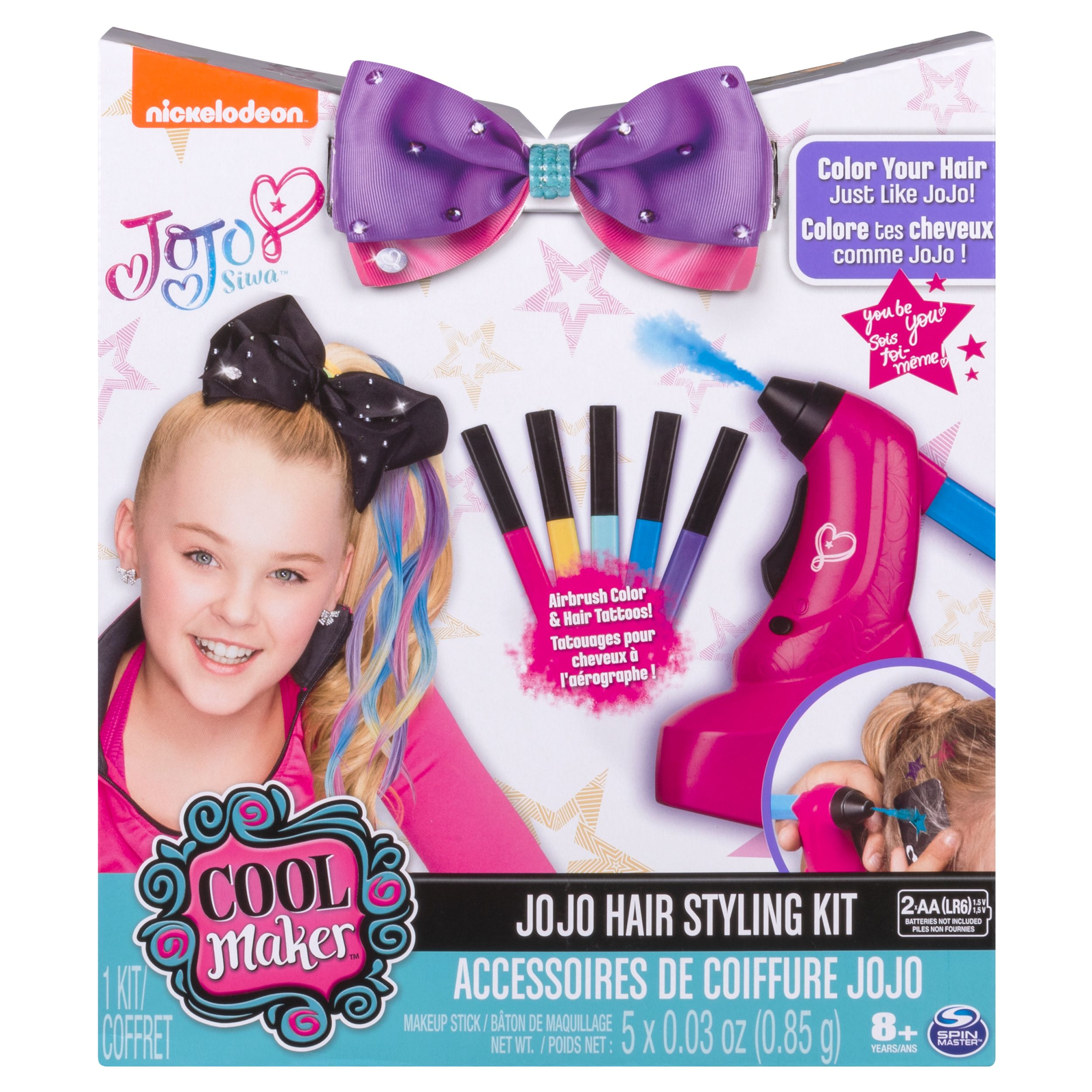 JoJo Siwa Hair Styling Kit ‐ Airbrush Highlights and Hair Tattoos