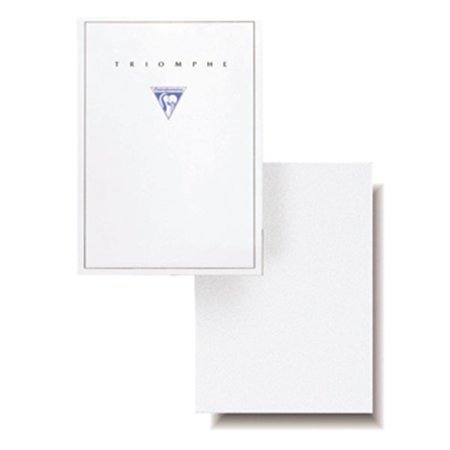 - Clairefontaine Triomphe Stationery Pad Blank White 50 sheets