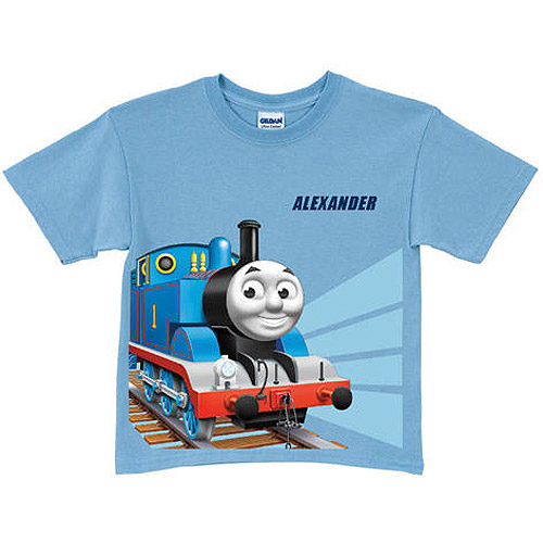 Personalized Thomas & Friends Tracks Light Blue Toddler Boy T-Shirt