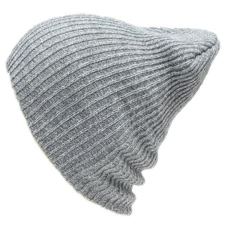 f7774e112 1Pc Winter Unisex Women Men Beanie Hat Oversize Slouchy Baggy Unisex Knit  Ski Cap Skull