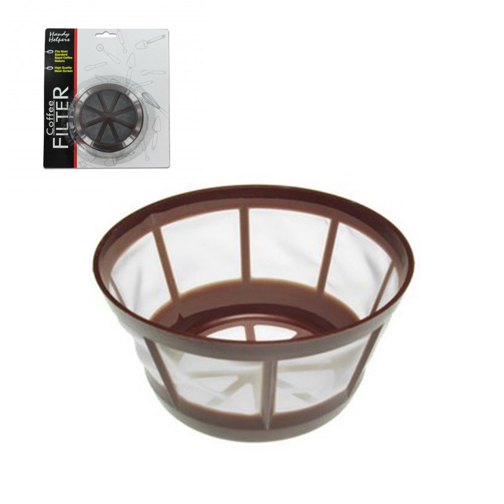 Universal Permanent Coffee Filter Basket Nylon Mesh Reusable Cone 8-12 Cup New