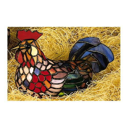 Meyda Tiffany 12122 Stained Glass   Tiffany Specialty Lamp from the Animal Sculptures Collection by Meyda Tiffany