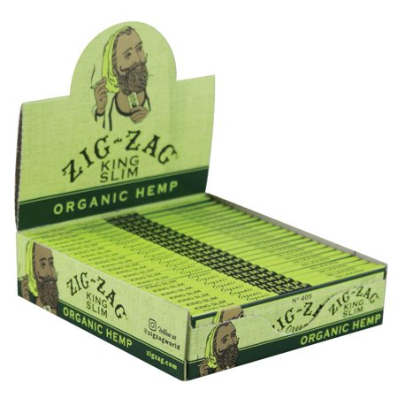 Zig Zag Hem (24PK DISPLAY - Zig Zag Organic Hemp Rolling Papers - Kingsize Slim )
