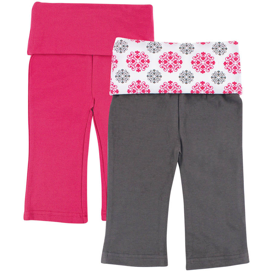 Yoga Sprout Newborn Baby Girls Pant 2-Pack - Girl Medallion