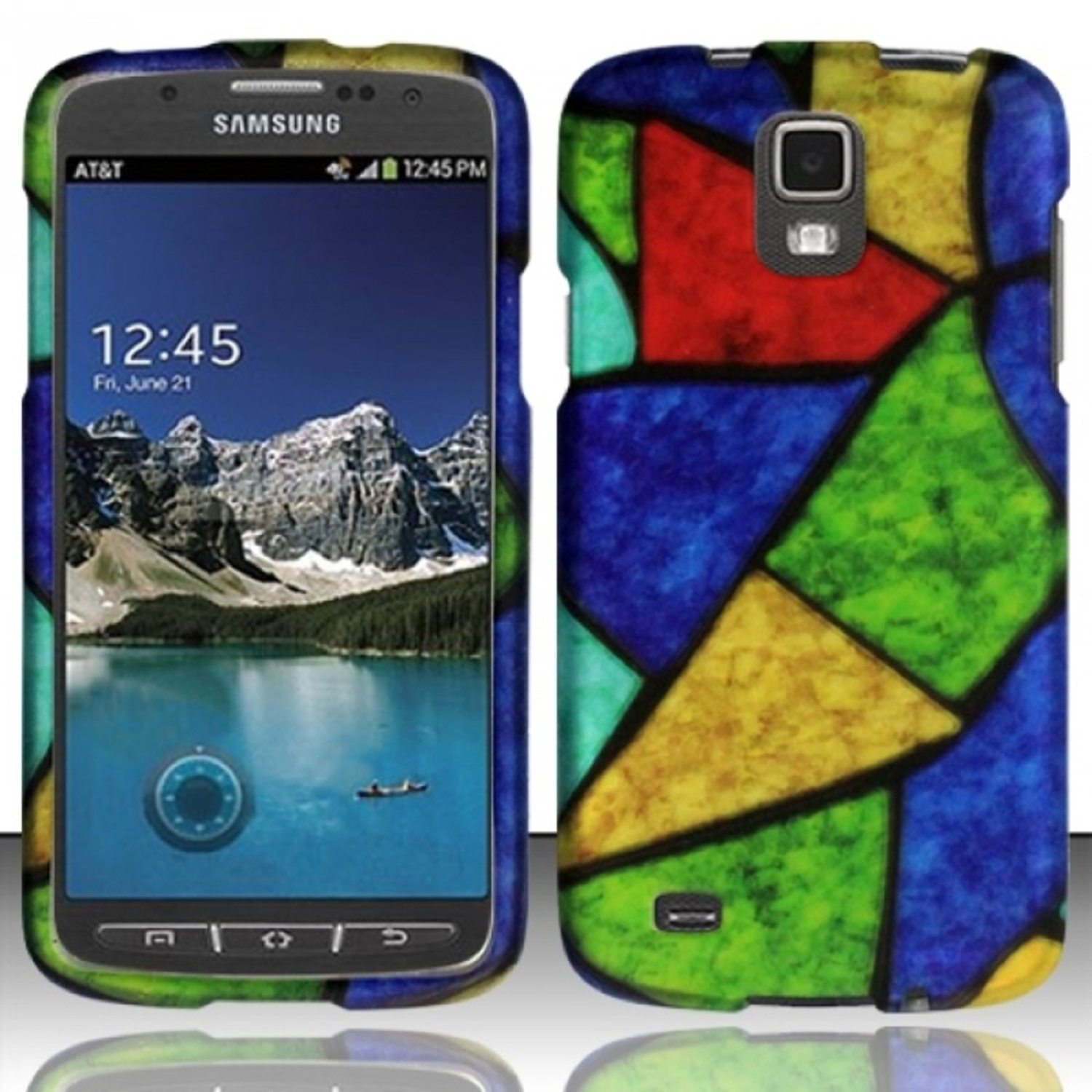 Insten For Samsung Galaxy S4 ACTIVE i537 i9295 Rubberized Design Case - Acrylic Colors
