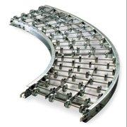 ASHLAND CONVEYOR W12X10X90A Skate Wheel Conveyor, 12Inx, Curved, Alum