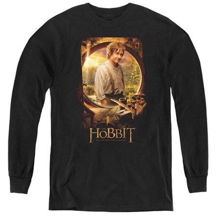 Trevco Sportswear HOB1007-YL-2 The Hobbit & Bilbo Poster Youth Long Sleeve T-Shirt   Black - Medium - image 1 of 1