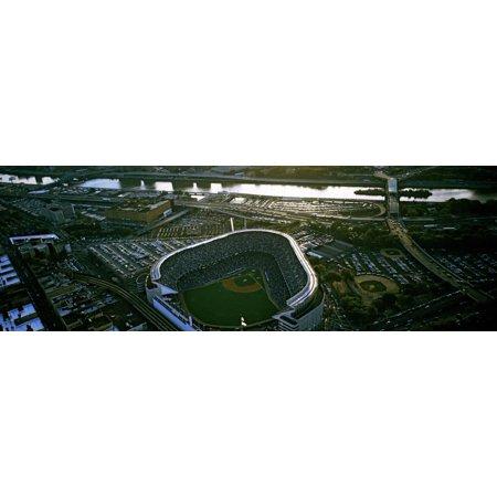 Aerial view of a baseball stadium, Yankee Stadium, New York City, New York State, USA Print Wall (Aerial View Yankee Stadium)