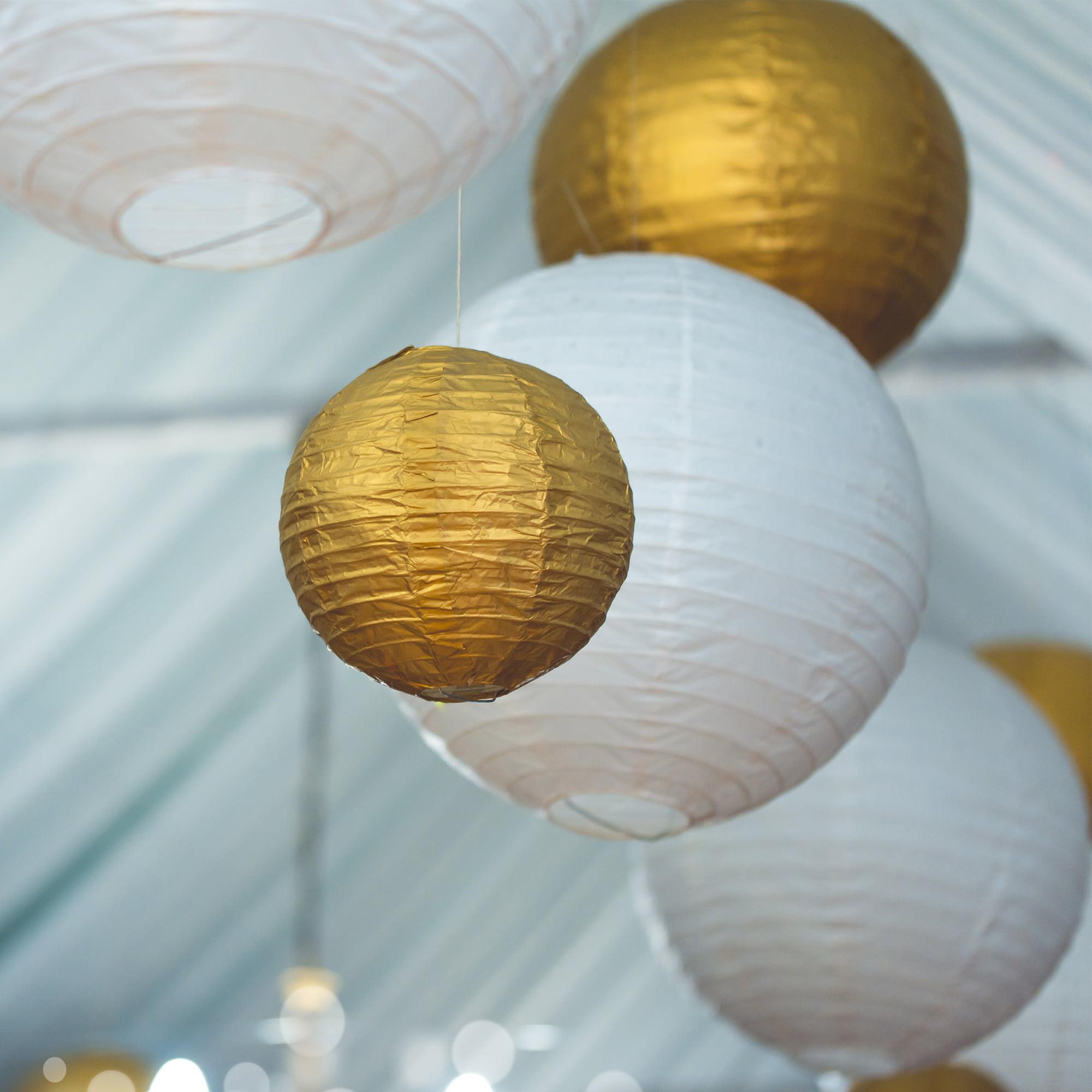 "LumaBase Round Paper Lanterns, 10"", 5-Count"