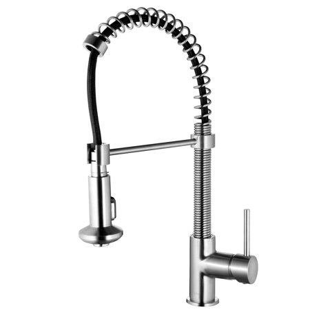 Kitchen Faucet With Pull Out Spray Spring Single Handle Down Sink Fixtures