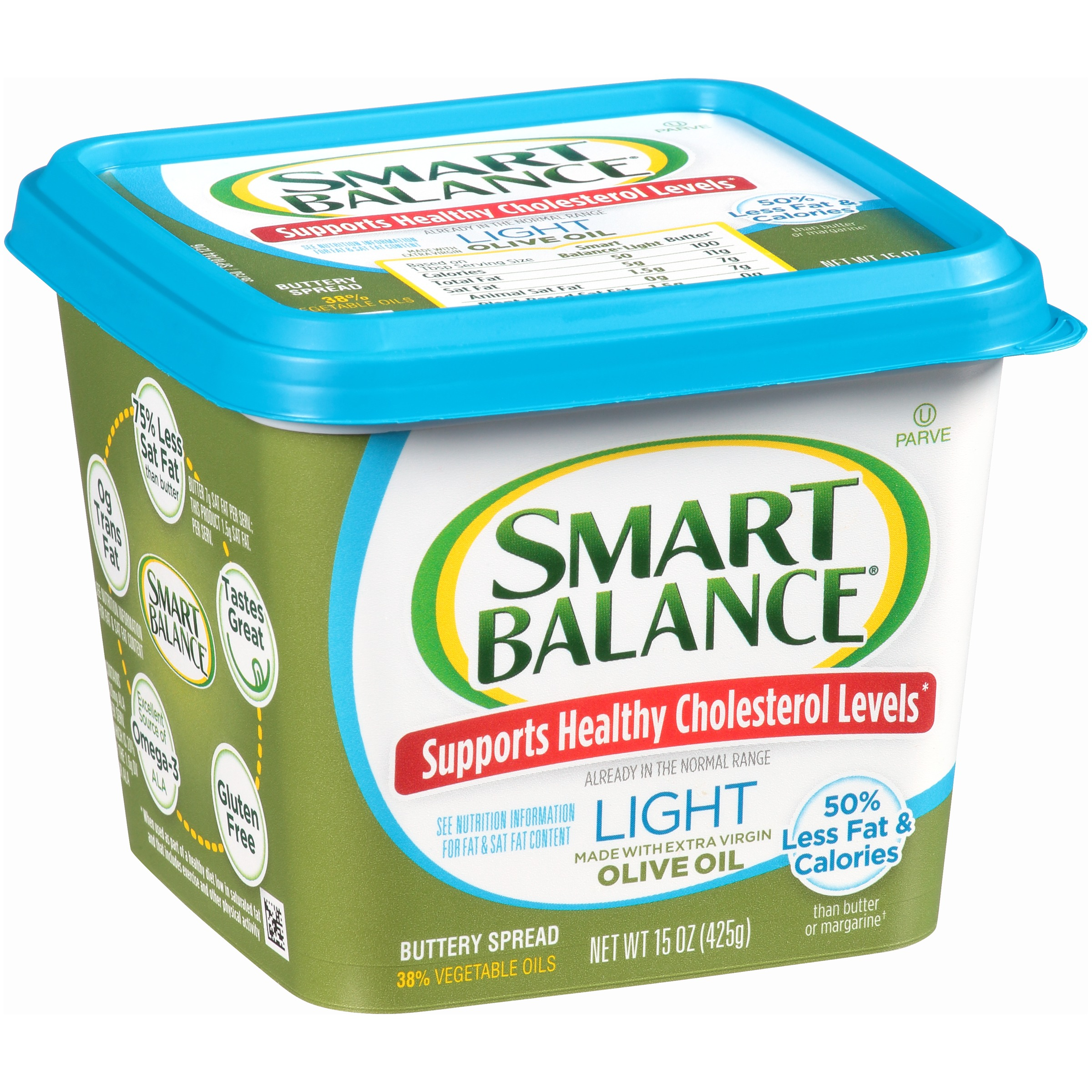 Smart Balance® Buttery Spread Light with Extra Virgin Olive Oil 15 oz. Tub