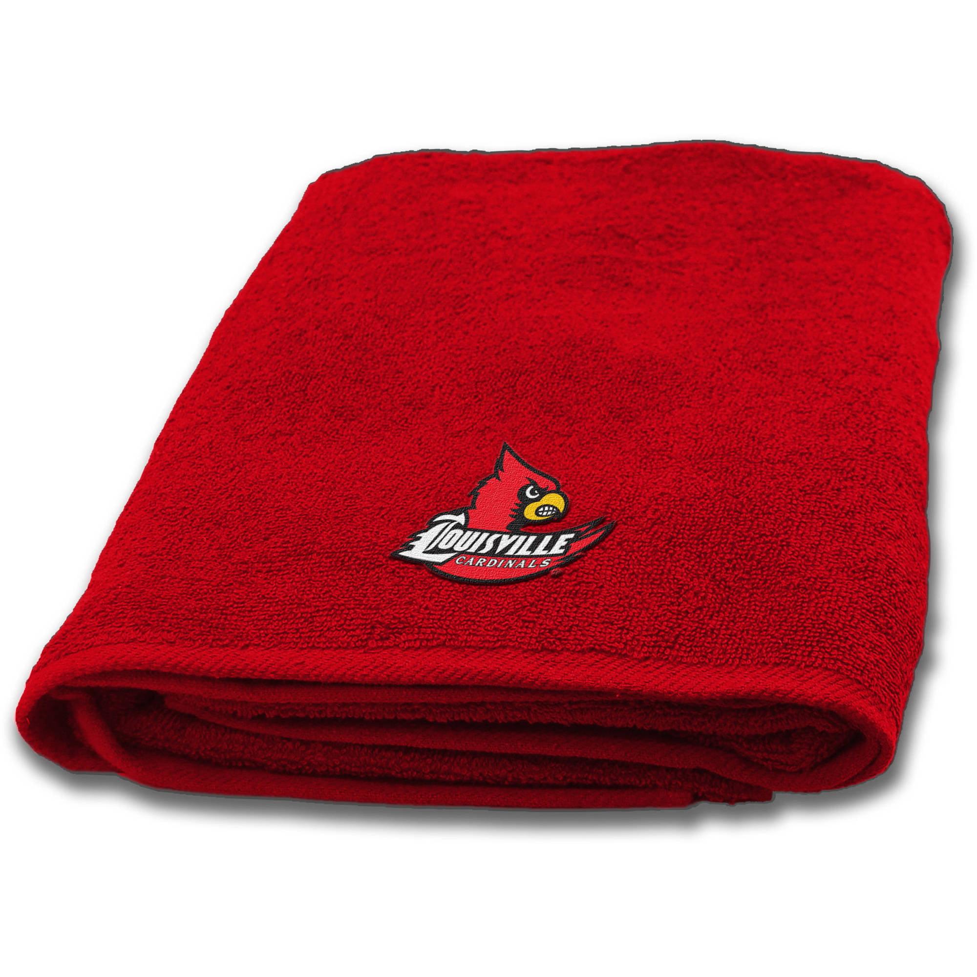 "NCAA Louisville Cardinals 25"" x 50"" Applique Bath Towel, 1 Each"