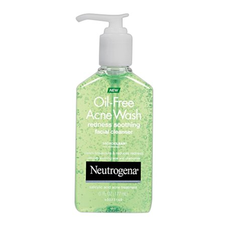 Neutrogena Oil Free Acne Wash Redness Soothing Facial Gel Cleanser   6 Oz  2 Pack