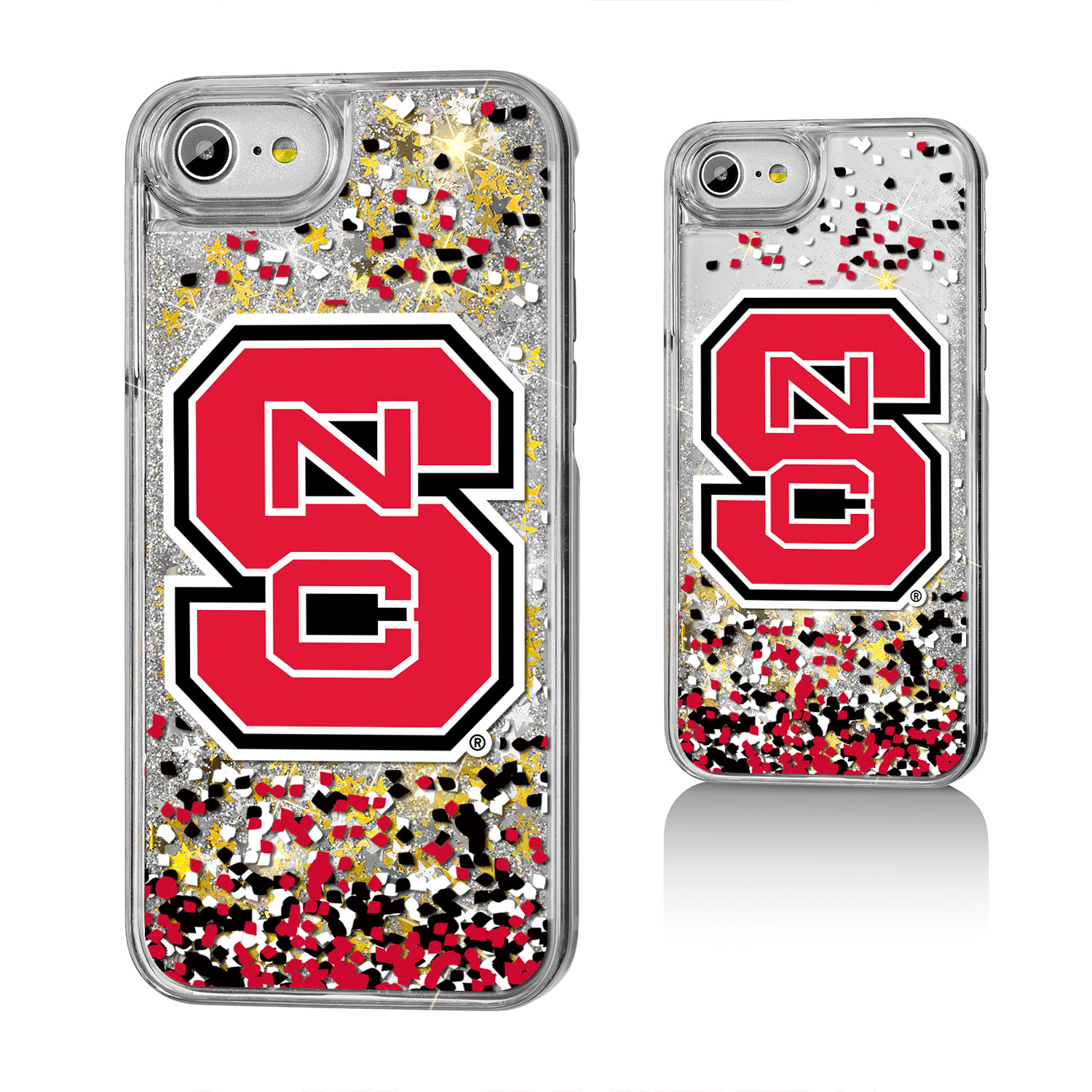 NCS North Carolina State Wolfpack Confetti Glitter Case for iPhone 8 / 7 / 6