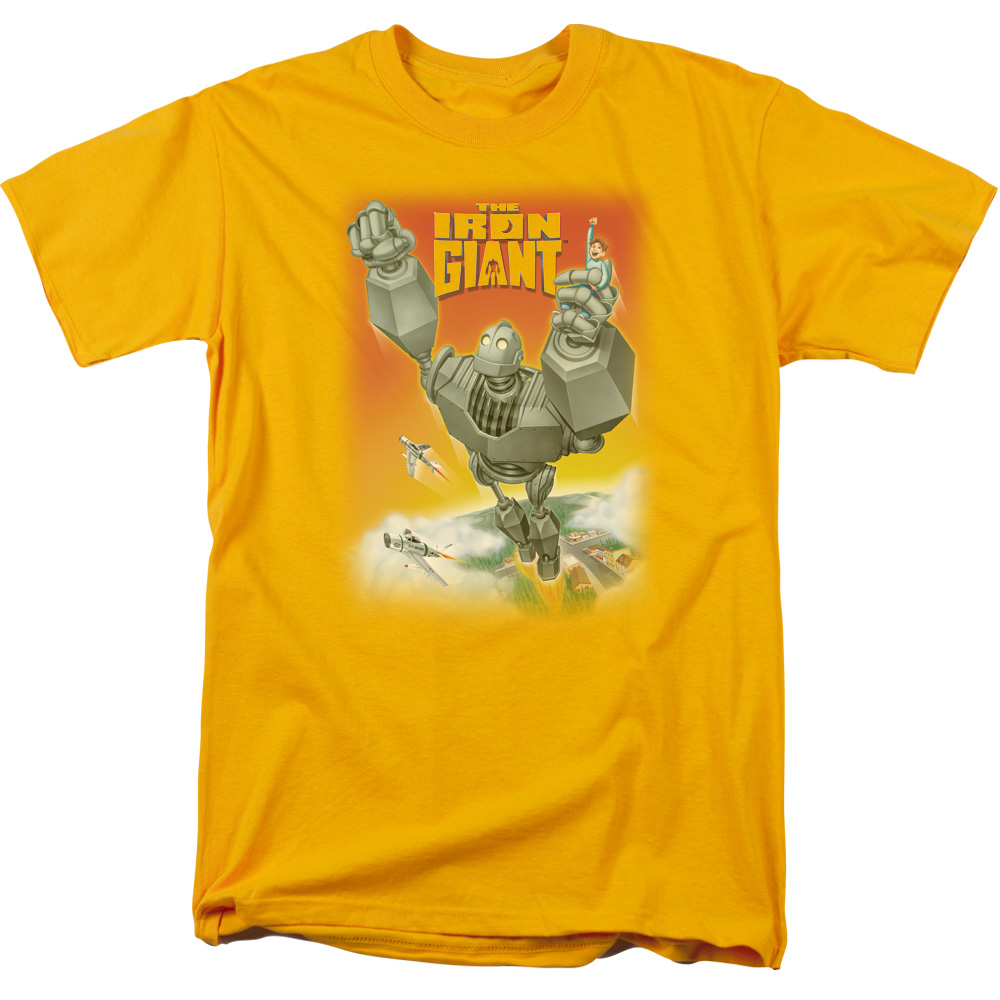 The Iron Giant Fly Away Mens Short Sleeve Shirt