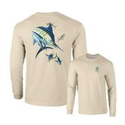 Marlin Fishing Long Sleeve T-Shirt 4 Yellowfin Tuna
