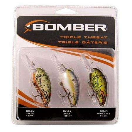 bomber model 4a triple threat pk3bomb1 crankbait fishing lures, Hard Baits
