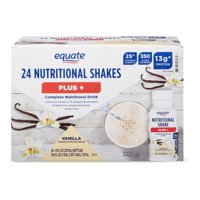 Equate Plus Nutritional Shake, Vanilla, 8 Fl Oz, 24 Ct