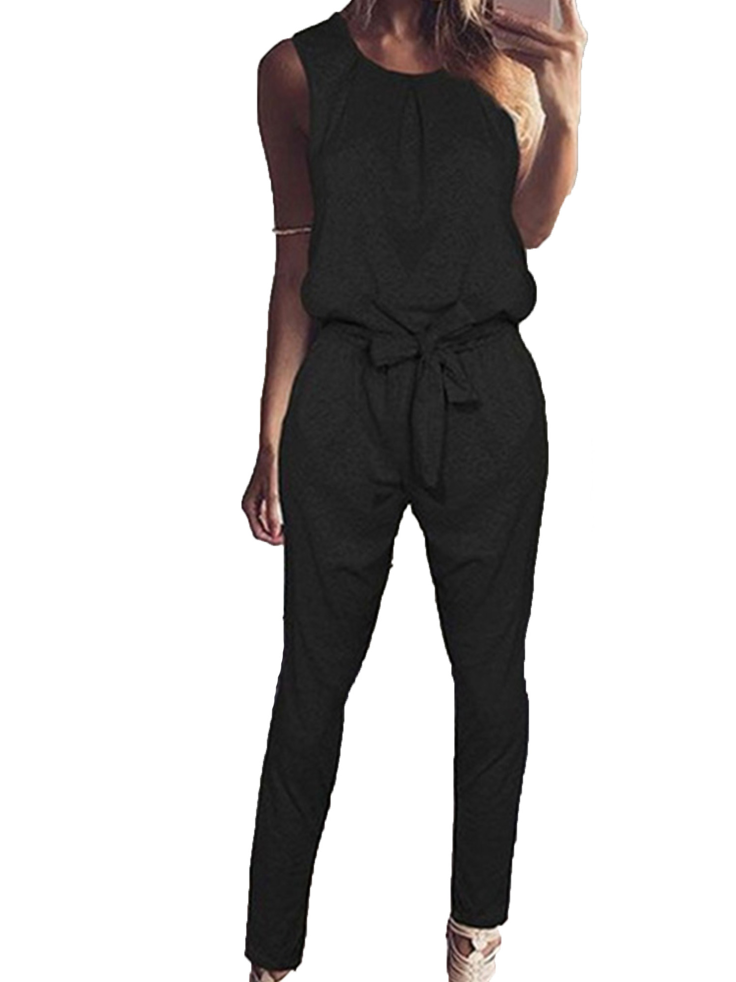 Women Floral Crepe Beach Cover Up Playsuit Jumpsuit Romper Trousers Clubwear