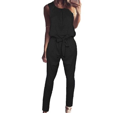 Womens Bandage Evening Party Playsuit Ladies Romper Long Jumpsuit Trousers Pants](1970s Jumpsuit)
