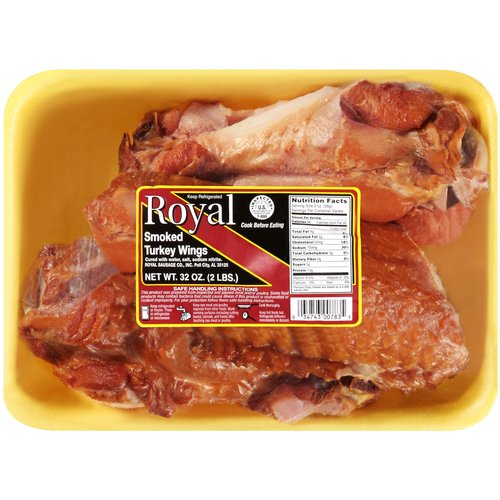 Royal Smoked Turkey Wings, 32 oz