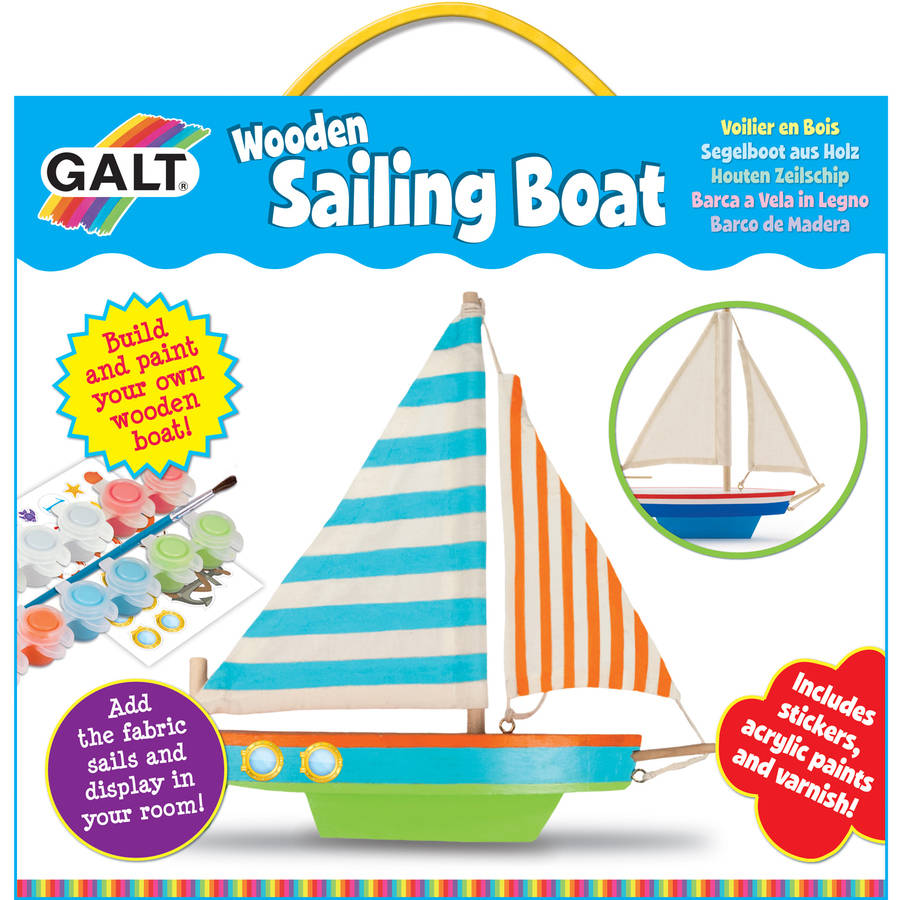 Image of Galt Activity Cases 1004354 Wooden Sailing Boat