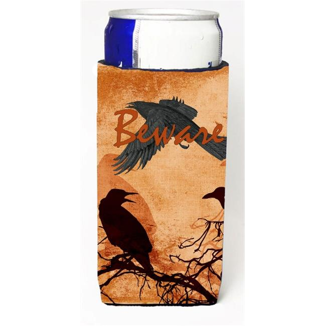 carolines treasures sb3009muk beware of the black crows halloween michelob ultra bottle sleeves for slim cans 12 oz