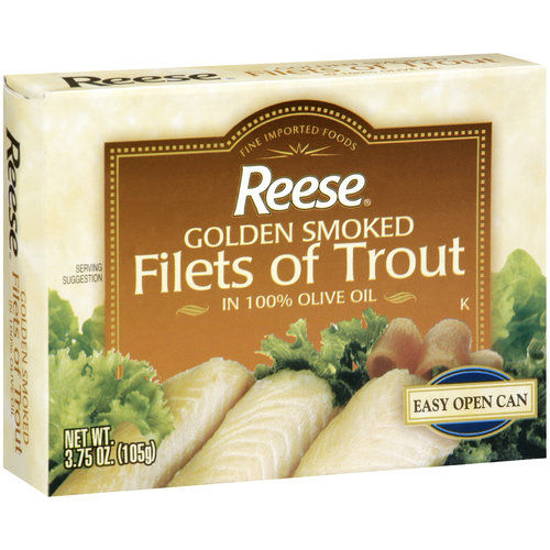 Reese Golden Smoked Filets of Trout, 3.75 oz