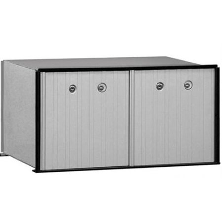 - 2 Doors Aluminum Parcel Locker USPS Access