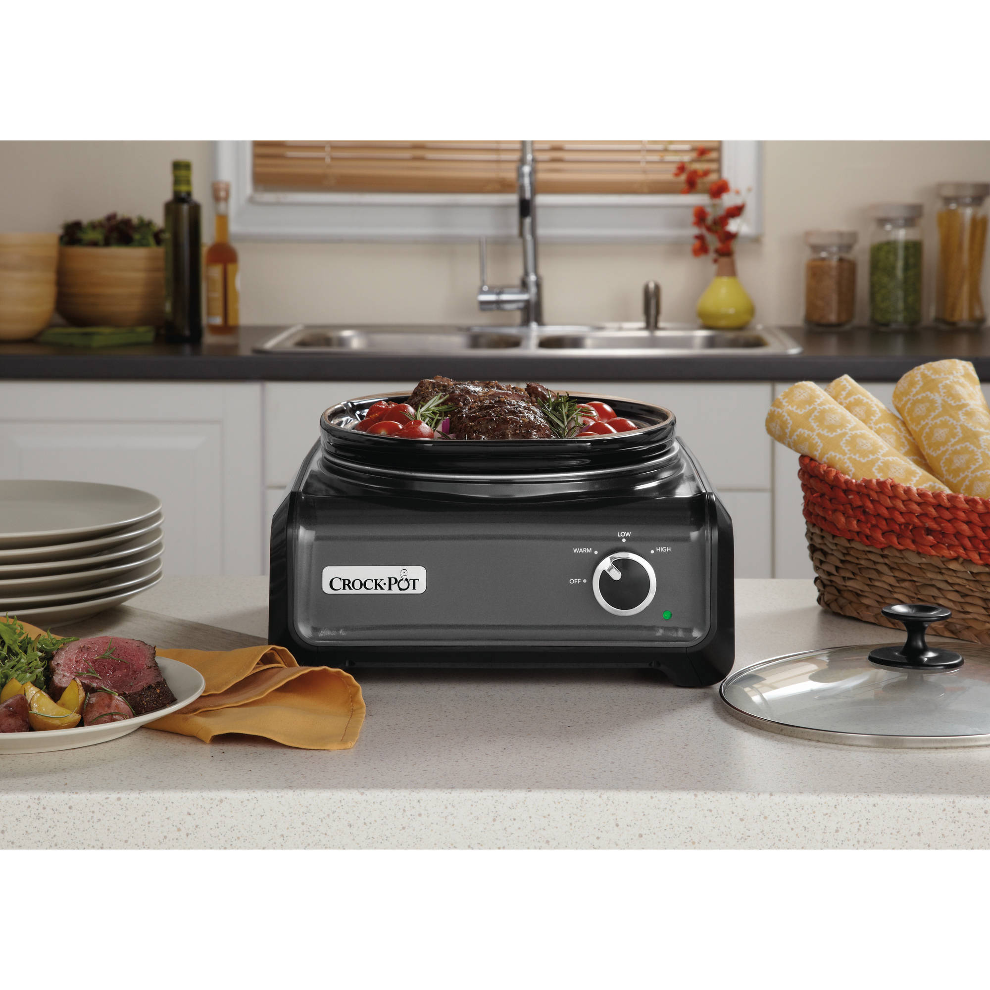 Crock Pot Hook Up Oval 3.5 Quart Connectable Entertaining System    Walmart.com