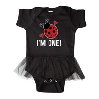 First Birthday Ladybug 1 Year Old Infant Tutu Bodysuit
