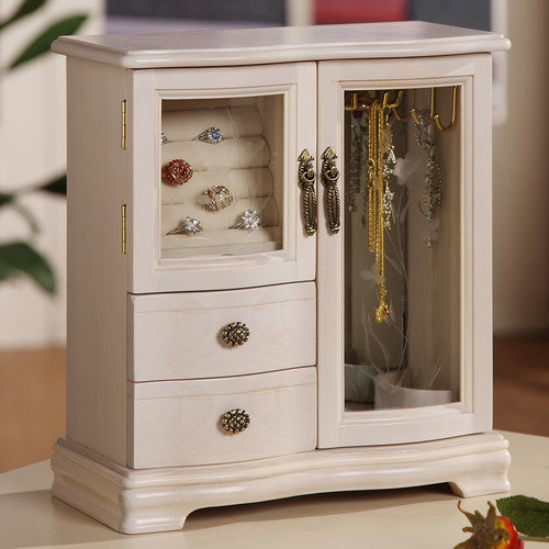 Wildon Home  Classical Two Dual Case Jewelry Box