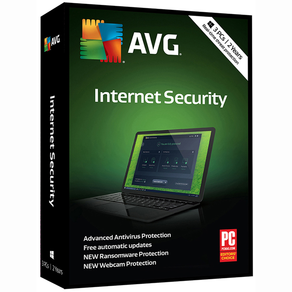 AVG IS 2018, 3 Users, 2 Years