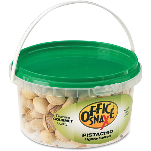 Office Snax Lightly Salted Pistachios, 13 oz