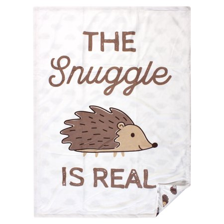 Hudson Baby Reversible Mink Blanket, Hedgehog