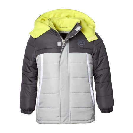 Hooded Tonal Colorblock Puffer Jacket Coat (Baby Boys & Toddler Boys) - Baby T Bird Jacket